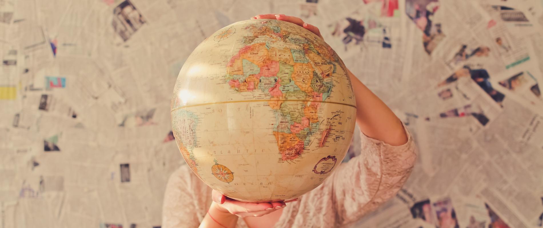 Bild von einer großen Weltkugel